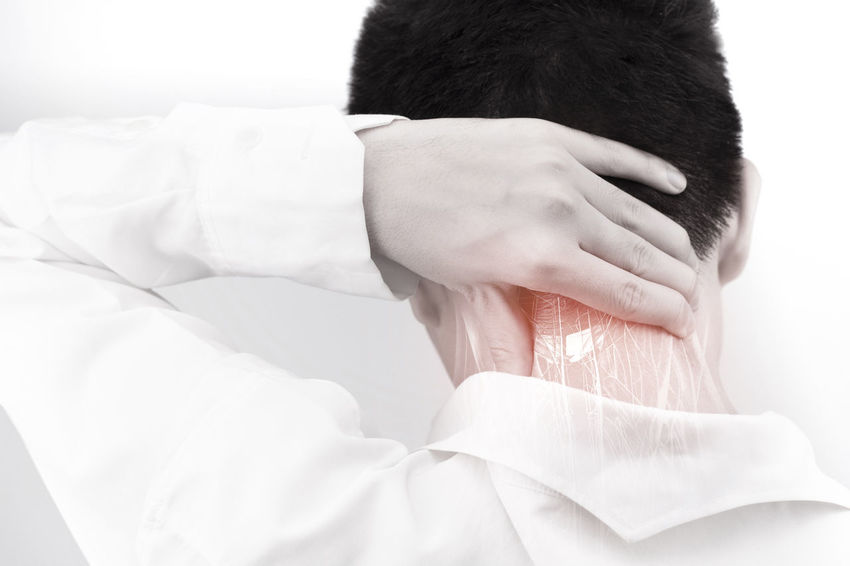 Neck muscle pain Healthcare And Medicine Neck Steoarthritis Cervix SORE Vertebrae Backache Muscle Sinew TENDON Soreness Healthcare Sprain Chronic  Swelling Inflammation Office Syndrome Numbness Swell Nerve Extensor Flexor Tuberculosis X-Ray Syndrome