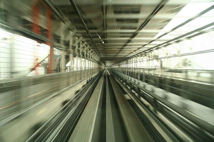 Blurred railroad tracks