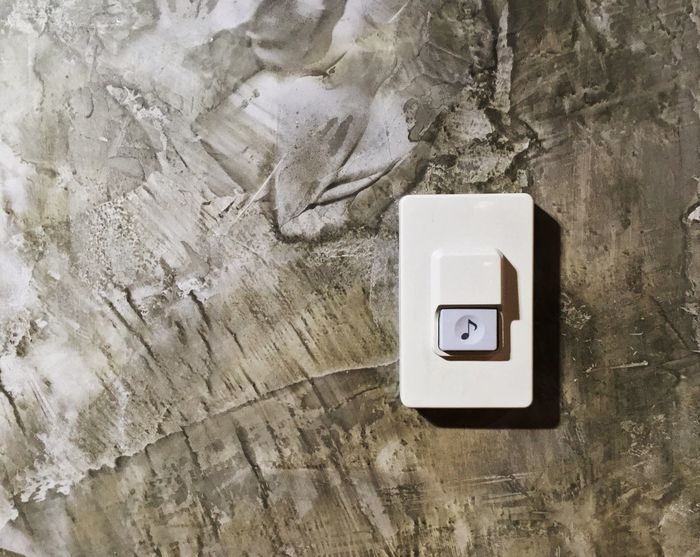 Indoors  No People Day Architecture Close-up Ring Texture Concrete Keypad Buzzer