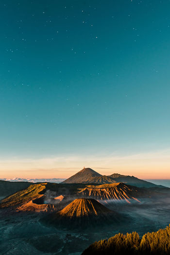 Beauty In Nature Bromo Dawn Dawn Of A New Day Land Landscape Mountain Nature Night No People Non-urban Scene Outdoors Scenics - Nature Sky Star Tranquil Scene Volcanic Crater Volcano The Great Outdoors - 2018 EyeEm Awards The Traveler - 2018 EyeEm Awards
