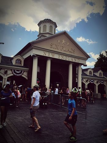 Had the best time with my sister's boyfriend and my brother in Six Flags New England🎉. First Eyeem Photo