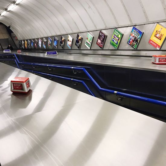 Tube Station  Staircase Colours Underground Station  Underground Life Indoors  No People Architecture Day Going Up Going Down