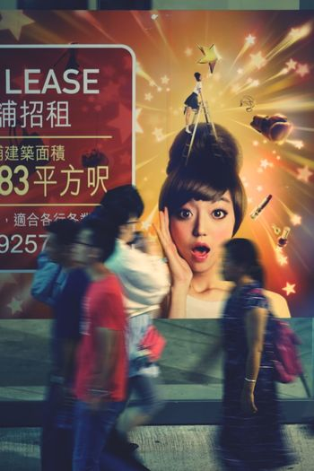 Nightshooters Reframinghk Street Photography Discoverhongkong Women Adult Motion People Portrait Blurred Motion Text Group Of People Communication Young Adult Lifestyles Females Arts Culture And Entertainment Indoors  Emotion Standing Digital Composite Looking At Camera Sign Beautiful Woman