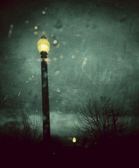 Forlorn Street light Street Lightfirst Eyeem Photo Grunge Rain Train Station Cloudy