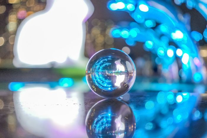 Nightphotography EyeEm EyeEm Selects EyeEm Best Shots EyeEmNewHere EyeEm Nature Lover EyeEm Gallery HongKong Hong Kong Glassball Sphere Illuminated Reflection No People Close-up Focus On Foreground Lighting Equipment Disco Ball Night Shiny Geometric Shape Decoration Glass - Material Glowing Crystal Ball Defocused Light Ball Nature Single Object