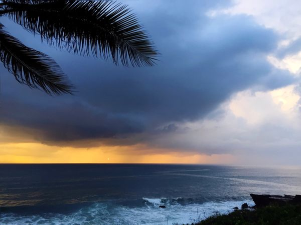Tropical Travel Bali Seascape Stormy Weather Weather