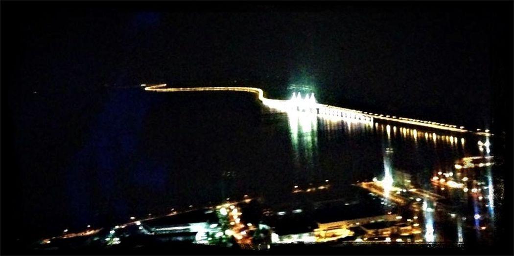 bird eye view of Penang Bridge at night Hello World Penang Penang Bridge