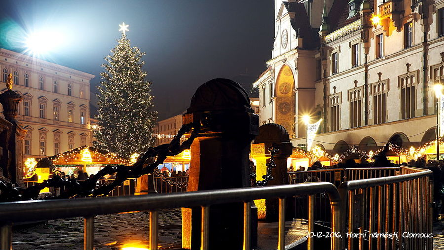 "10-12-2016 l Horní náměstí, Olomouc l ""High Square"", Olomouc, Czech Night Illuminated Christmas Lights Cultures People Outdoors Architecture Czech Long Exposure Cold Temperature Christmas Around The World Olomouc. City. City"