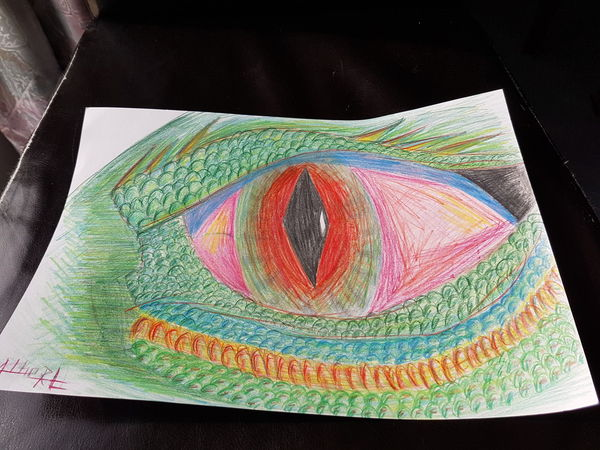 Multi Colored Close-up No People Taking Photos Eye's Are Always Watching You Eye's Looking At You♡ Eye's Green Color House Drawing Dragon Red ArtWork
