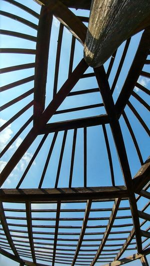 Sky pattern Abstract Architecture Built Structure Construct Of Wood And Metal Day Europe Falkenstein Germany Harz Holidays Low Angle View No People Outdoors Pattern Sky Traveling Upwards