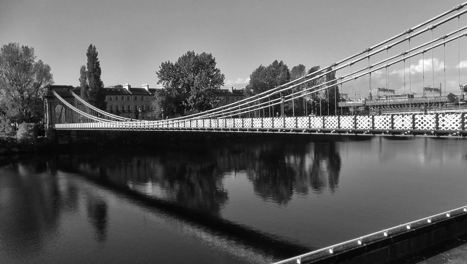 Bridge - Man Made Structure Connection Reflection No People Architecture Water River Sky Cityscape Nature WeekOnEyeEm Streets Of Glasgow EyeEm Gallery River Clyde Reflection Blackandwhite Photography
