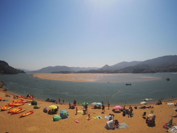 Urdaibai Water Sea Beach Sky Land Large Group Of People Group Of People Vacations Holiday Clear Sky Sand Nature Mountain Real People Summer Outdoors