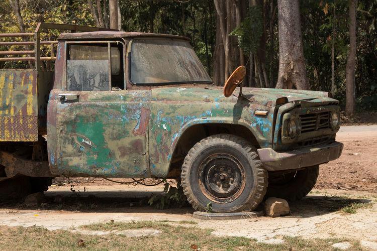 National Park Old Truck Thai Transport Old Old Pickup Truck Oldpickup Pickup Pickup Truck Truck