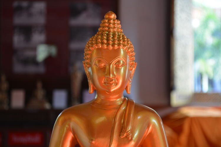 Close-up of buddhism face