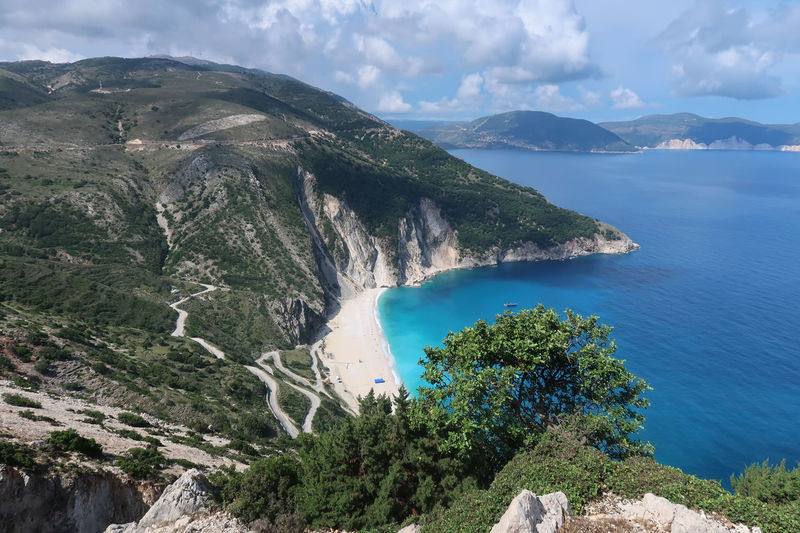 Myrtos beach, Kefalonia - Greece GREECE ♥♥ Greek Greek Islands Kefalonia Island Postcard Travel Bay Beach Cloud - Sky Greece Greece Islands High Angle View Idyllic Kefalonia Mountain Myrtos Beach Nature Non-urban Scene Scenics - Nature Sea Sky Tranquil Scene Tranquility Turquoise Colored Water