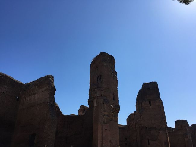Rome History Ancient Civilization Outdoors Caracalla Thermal Bath Clear Sky Architecture Arts Culture And Entertainment