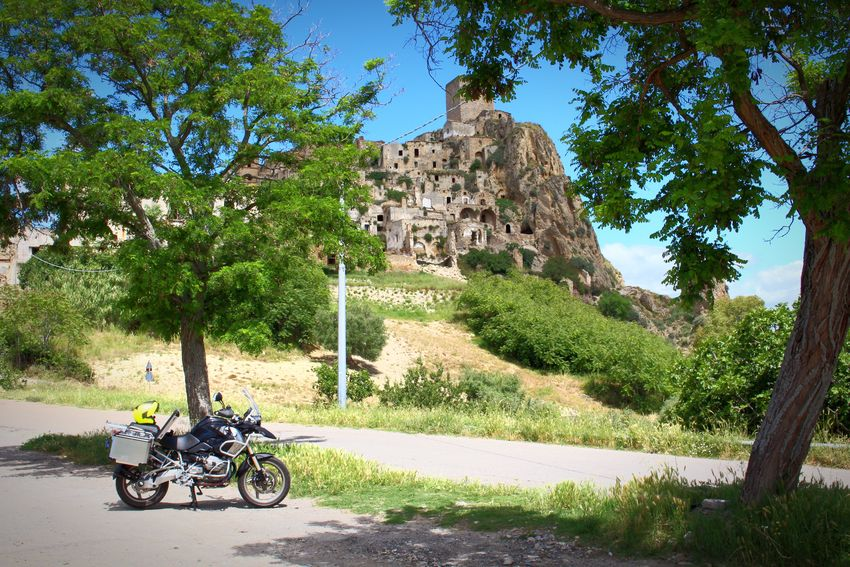 Craco Basilicata, Italy  BMWMotorrad R1200gs Landscape Motorbike Helmet Fluo  Awesome Gettyimages