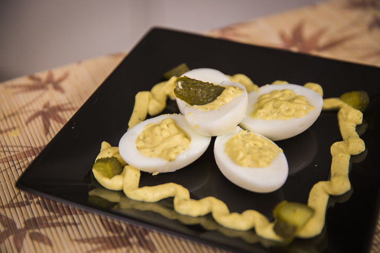 Close-up Day Deviled Eggs Food Food And Drink Freshness Healthy Eating Indoors  No People Ready-to-eat Table