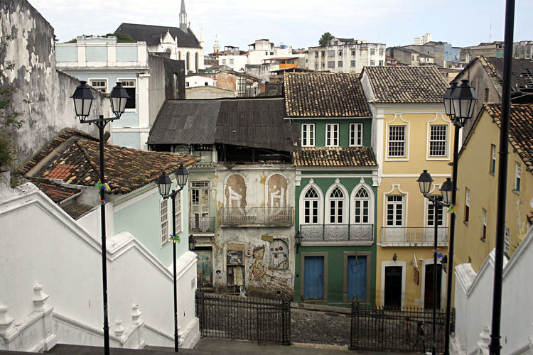 Residential buildings in town