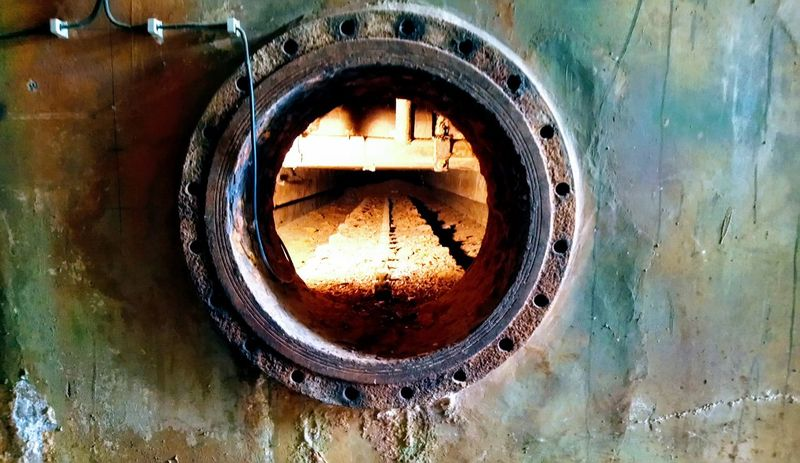 View into an historical water filter Steampunk Water Close-up Circle Deterioration Damaged Run-down Rusty Bad Condition HUAWEI Photo Award: After Dark #urbanana: The Urban Playground