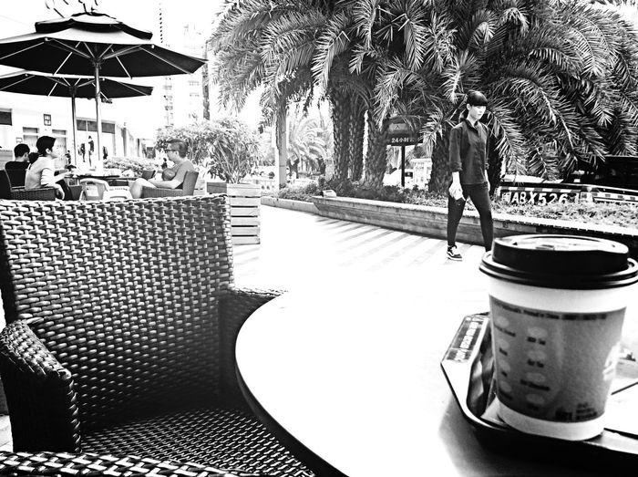 come into my coffee Black & White