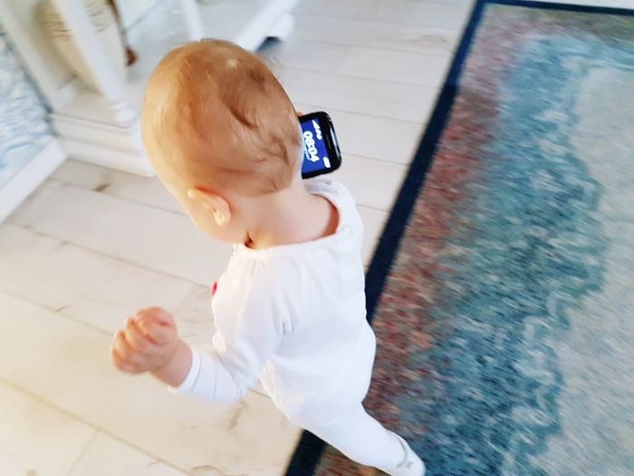 EyeEm Selects Baby Childhood Child Cute In Motion Movement Hurry Hurrying Talking On The Phone Toddler  Home Family Kids Baby Talking On The Phone Kids Play Playing With The Phone EyeEmNewHere The Week On EyeEm Bussinesswoman