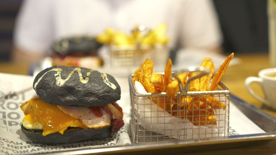 Burger and fries Fries Burger Time Burger Time Burger Food And Drink Food Freshness Ready-to-eat Indoors  Close-up Focus On Foreground Bread Dessert Fast Food Baked Table Temptation Sweet Sandwich Indulgence Still Life Sweet Food No People Unhealthy Eating