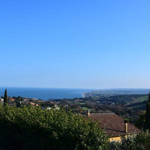 Sea Sea And Sky Rivieradelconero Marche Italy Sunny Clear Sky