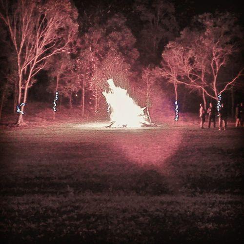 Bonfires and fairy lights. Jimboomba Bonfire Possiblesafetyhazard