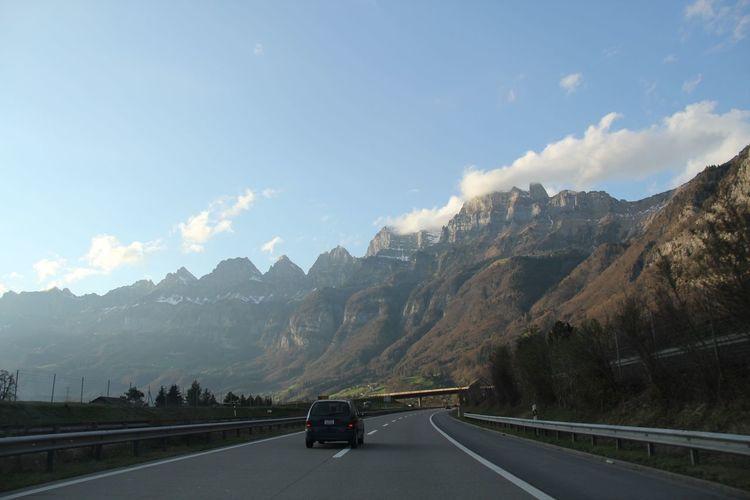 Highway Through Mountains