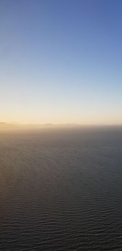 aerial shot of San Francisco sunset from SFO Sunset Foggy Sunny Day Springtime No Filter Purist No Edit No Filter San Francisco Skyline Clear Sky Sea Blue Beauty Sky Rippled View Into Land Calm Tranquil Scene Scenics