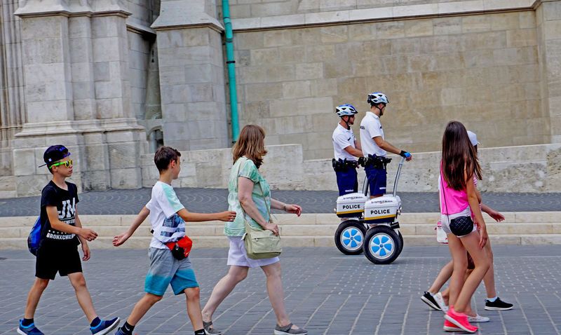 segway police in Budapest, Hungary City Driving Modern Motion People Police Segway Street Street Photography Streetphotography Summer The Street Photographer - 2017 EyeEm Awards