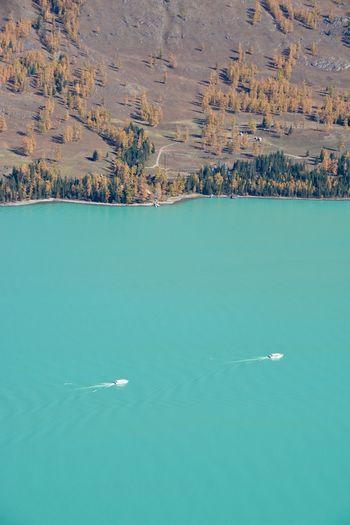 The autumn lake
