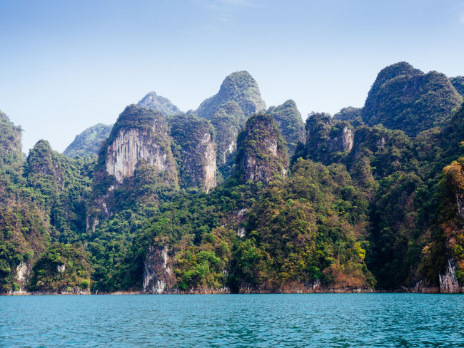 Khai So National Park Beauty In Nature Day Khao Sok National Park Mountain Nature Outdoors Rock - Object Scenics Sky Thailand Tourism Tourist Attraction  Water Waterfront