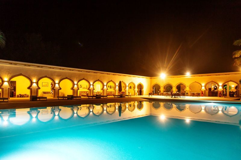 Water Architecture Built Structure Night Illuminated Travel Destinations Reflection