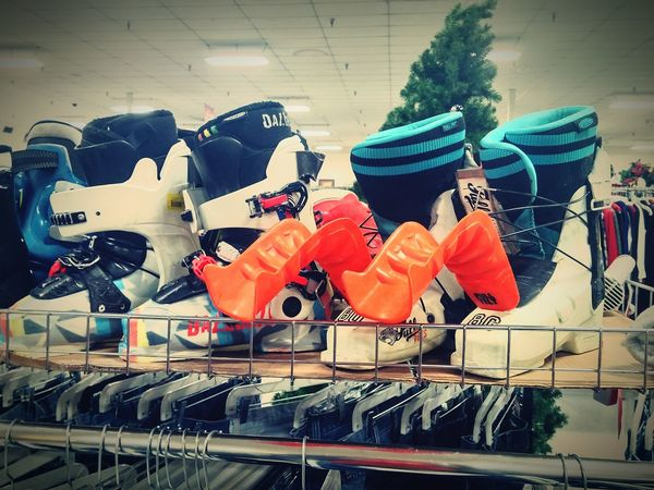 Used Skiing boots....errmmmm yeah Thrifting Thrift Shop Hanging Out Taking Photos Salvation Army Usedclothing