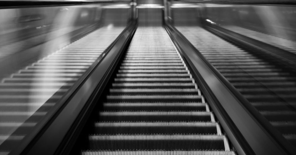 Escalator at airport