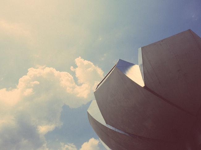 ArtScience Museum Architecture Artsciencemuseum Building Cloud Cloud - Sky Day Low Angle View Modern No People Singapore Sky