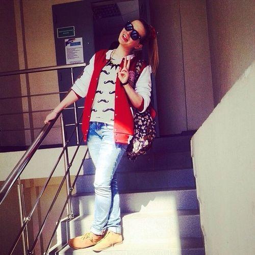 Street Fashion Girl Krasnodar Study