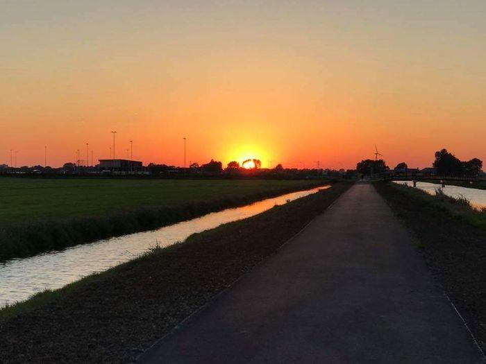 Beauty In Nature Sunset Netherlands First Eyeem Photo Landscape Sky City Sunlight Assendelft Tranquility No People Beauty In Nature Day Nature