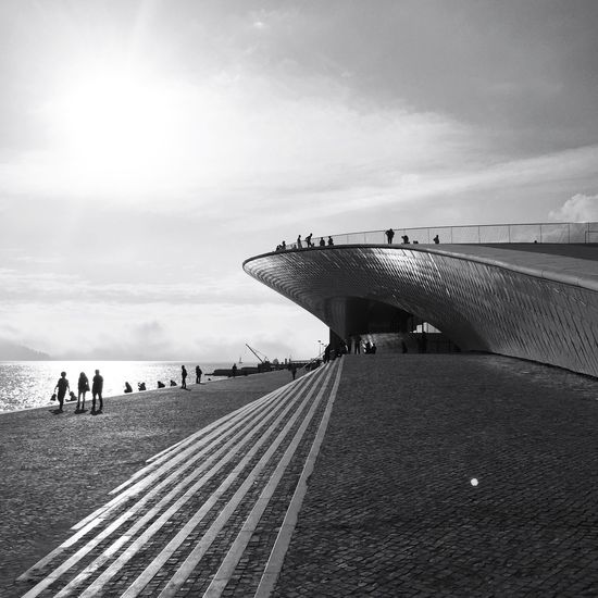 Maat Built Structure Building Exterior Architecture Blackandwhite Blackandwhite Photography Black And White Lisbon Eyeem Lisbon Black And White Friday