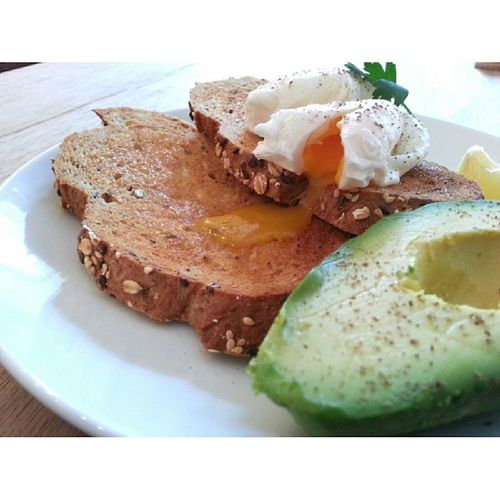 Earlier this afternoon: The Bravery - Eggs on toast with avocado Burpple Sgcafe Thebraverycafe @_thebravery_