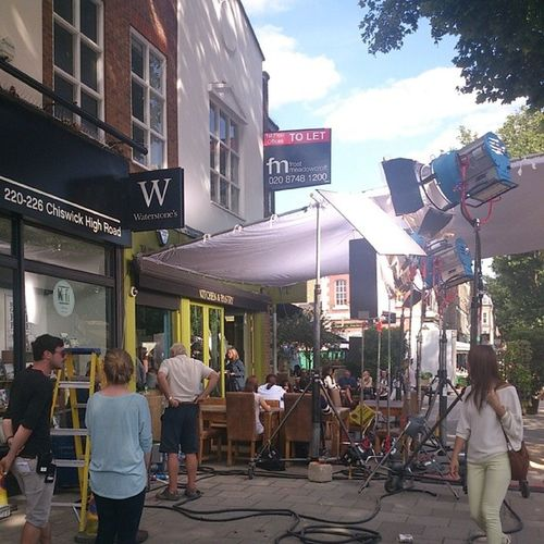 Some serious filming on Chiswick highroad yesterday Filming Kitchenandpantry Chiswick