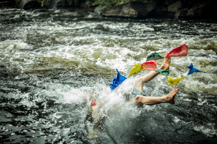 People enjoying in river