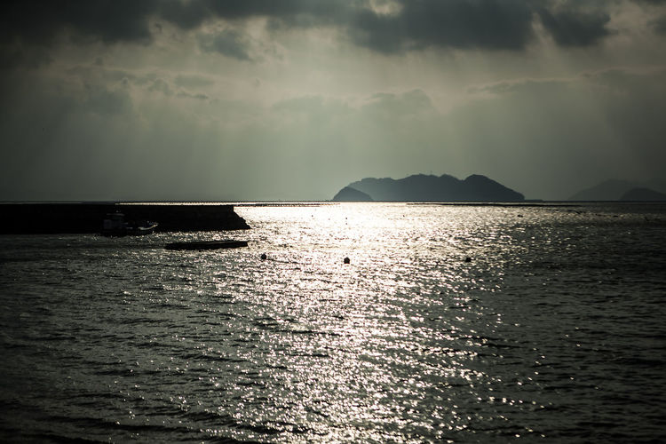 Wando Cheonghaepogu Korea Sun Beam From Cloud Sea Island Black And White