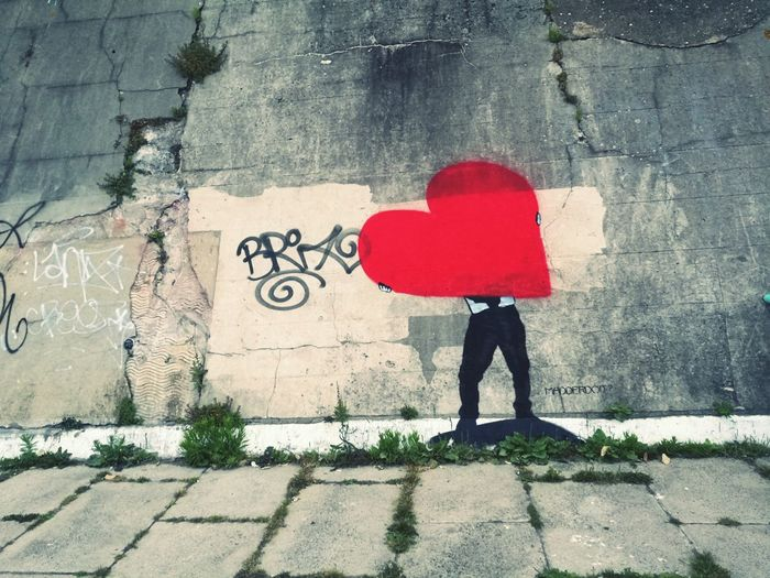 Brighton has a heart Graffiti Art Heart Shape Redcolour Brighton Beach Urban Landscape Beachlifestyle Spray Paint Drawing