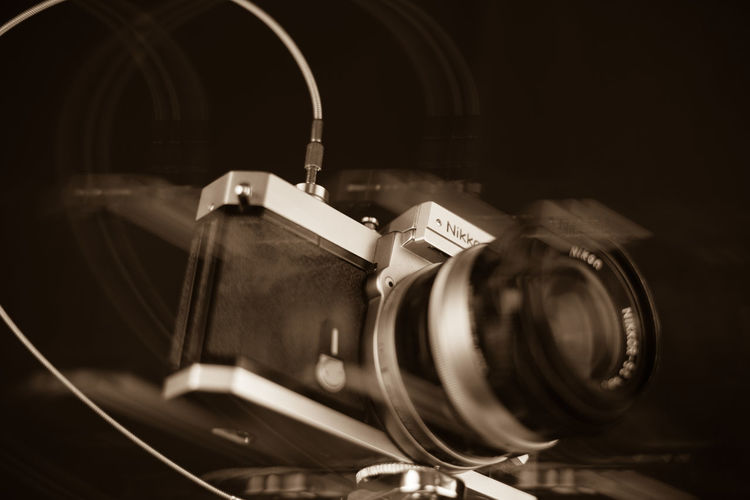 Aged Arts Culture And Entertainment Camera Circle Close-up Design Detail Directly Above Equipment Indoors  Metal Nikkormat Nikon Old Old-fashioned Part Of Photography Themes Shiny Showcase: December Shu Single Object Still Life Technology Vintage