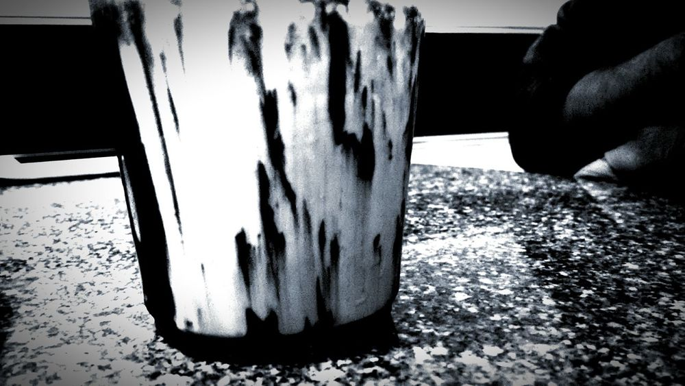 Coffee Alone First Eyeem Photo Randomshot Coffee ☕ Coffee Shop Coffeeadict Coffee Mug Alone Time Darkfrappe Smartphone Photography Blackandwhite Blackandwhite Photography Black & White Pattern, Texture, Shape And Form Patterns & Textures