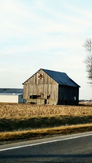 Barn in Illinois USA... Barns Nature Farms Wheat Field Old Barns Photography Beauty In Nature Architecture Enjoying Life Natural Beauty Sky And Clouds Seasons