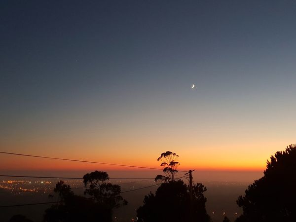 Portugal Sky Colors Sunset Astronomy Water Moon Crescent Sunset Sea Galaxy Clear Sky Tree Half Moon